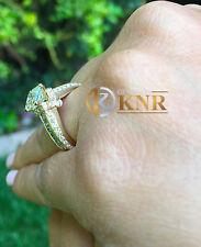 14k Yellow Gold Princess Forever One Moissanite Diamond Engagement Ring 2.00