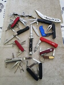 13 Taschenmesser u. Arbeitsmesser Konvolut Sammlung