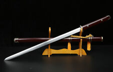 Handmade Chinese Sharp High Manganese Steel Wushu Sword Kung FuJian Full Tang