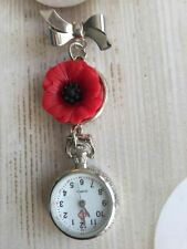 Poppy Cabochon Nurse Fob Watch