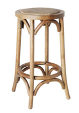 Classic French Design Natural American Oak Timber Kitchen Bar Stool - 2 Pieces