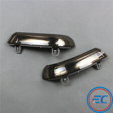 For VW Jetta Golf MK5 Passat Mirror Turn Signal Indicator Light L+R Smoke Black