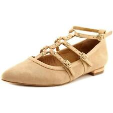 Zapatos planos de mujer de color principal crema de ante