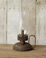 Rustic new Led Oil Lamp accent Light in distressed Tin -Battery Operated