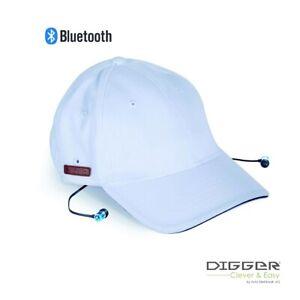 DIGGER – Bluetooth-Kappe mit Kopfhören und Mikrofon - blau oder weiß