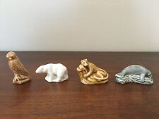 Wade England Porcelain Figurines x4 Endangered North American Animals