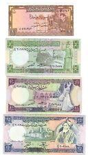 syria siria 4 notes 1 + 5 + 10 + 25 pounds fds unc 1963-1988 lotto 324