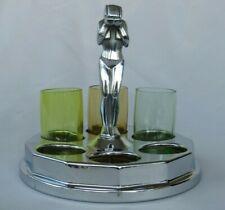 New listing Art Deco Farberware Weeping Woman Shotglass Caddy Holder 1930'S