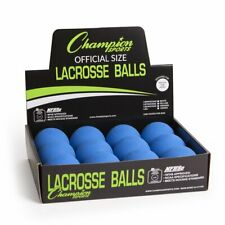 Champion 12 Pack Official Rubber Lacrosse Balls Nfhs & Ncaa Approved, Blue