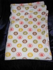 Disney Winnie Pooh Bumble Bee Blanket White Polka Dot Green Brown Yellow Orange