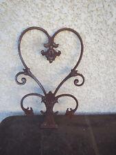 Ancienne grille en fonte sculpture volute forme vintage  art nouveau