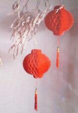 ONE CHINESE XXL 38cm RED PVC LANTERN WEDDING BIRTHDAY GARDEN BABY JAPANESE PARTY