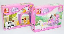 Piano solo + princess carriage filles enfants compatible construction briques lot