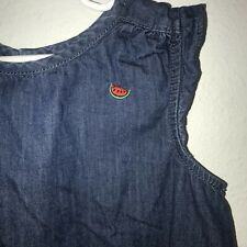 Hanna Andersson Girl's Denim Top Watermelon Size 130 cm or US 8