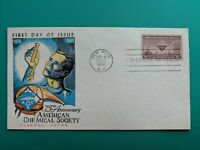 1951 Fluegel First Day Postal Cover American Chemical Society Anv Science Cachet