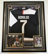 Cristiano Ronaldo of JUVENTUS Autographed Signed Photo with Shirt Jersey Display