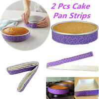 2 x Cake Pan Strips Bake Even Strips Purple Bake Moist Level Cake Baking Tool