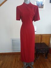 NWT DW3 Womens Size 12 Wrap Dress Tie Button Closure Red