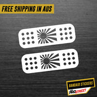 RISING SUN BANDAIDS JDM CAR STICKER DECAL Drift Turbo Euro Fast Vinyl #0094