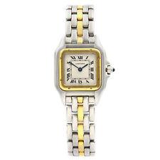 Cartier Panthere 18K желтое золото сталь серебристый циферблат кварцевые женские часы 6692