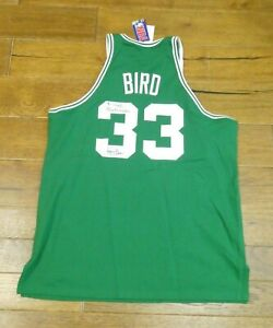 Larry Bird Basketball HOF Signed Jersey Mitchell & Ness Size 52 with JSA COA
