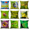 Pillow Case Printing insects bee butterfly cotton linen For Home Decor Gifts
