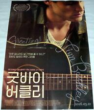 GREETiNGS FROM TiM BUCKLEY Jeff Penn Badgley Rock Guitar KOREAN one sheet POSTER