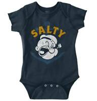 Vintage Nautical Sailor Cartoon Popeye Salty Unisex Baby Infant Romper Newborn