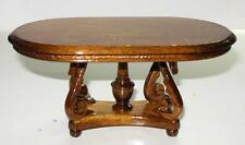 DELUXE SWAN COFFEE TABLE WALNUT  DOLLHOUSE FURNITURE MINIATURES