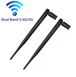 2 x 2.4/5G 5dBi Antenna RP-SMA Female /90° foldable/19.5cm e.g. WLAN Router