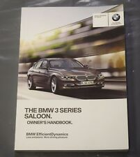 GENUINE BMW 3 SERIES F30 2012-2017 SALOON GENUINE HANDBOOK OWNERS MANUAL iDRIVE