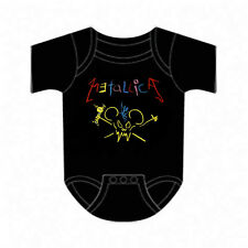 METALLICA cd lgo CRAYON MOUSE SCARY GUY Official Baby ONE PIECE Shirt 18 Mth new