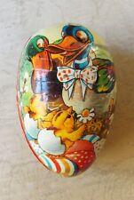 Vintage 1960s Egg Shaped Cardboard Easter Egg Container