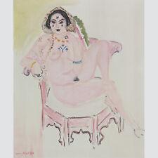 Henri Matisse. Nu. Akt im Sessel. Farblitho 1954. (Maeght 1505).