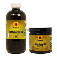 Tropic Isle Living Jamaican Black Castor Oil 8oz & Hair Food Combo w/ Applicator