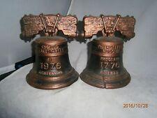 Wilton Cast Iron Bicentennial Liberty Bell Bookends
