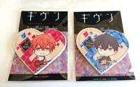 Given Mafuyu Ritsuka Heart-shaped Leather Badge set Kizunatsuki anime Japan