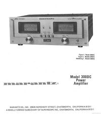 Marantz 300DC Amplifier Owners Instruction Manual