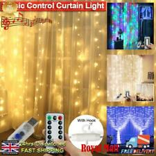 3M X 3M 300LED Curtain String Light Remote Control USB Smart Fairy Lamp 8 Modes