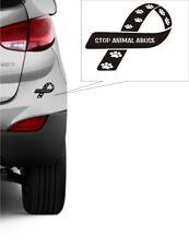STOP ANIMAL ABUSE CAR WINDOW STICKER - WILDLIFE CONSERVATION