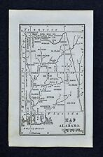 1830 Nathan Hale Map - Alabama Mobile Tuscaloosa Florence Clarksville Blakely AL
