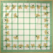 Tischdecke Serviette Gänseblümch Quadrat Baumwolle 90 x 90 cm brandneue grün