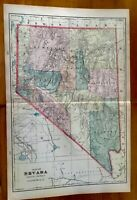 "1906 Geo F Cram Railroad and County color map of Arizona Territory 22"" x 14"""