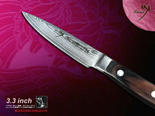 Japanese Vg10 Damascus Steel Fruit Paring Knife 3.3 inch Flatware Cutlery NEW