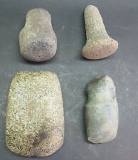 Fine Collection of 4 Pre-Columbian Carved Stone Tools  1000 AD   ancient antique