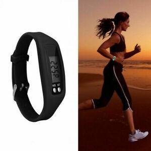 LCD Digital Pedometer Run Step Walking Distance Calorie Counter Watch Bracelet