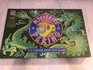 Vintage 1987 MB Mysteries of Old Peking The Chinese Detective Game 100% complete