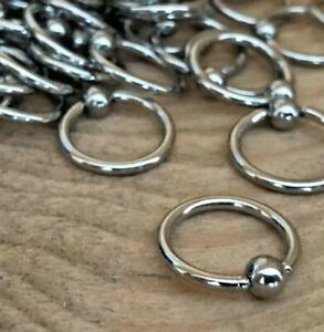 BALL CLOSURE RING - Stainless Steel | Septum Nose Ear Nipple | UK Body Jewellery
