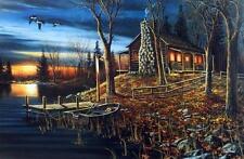 "Jim Hansel ""Complete Serenity"" Cabin Lake Print 29"" x 19"""