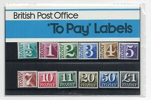 GB 1977 Postage Dues Presentation Pack No. 93 VGC stamps. To Pay labels